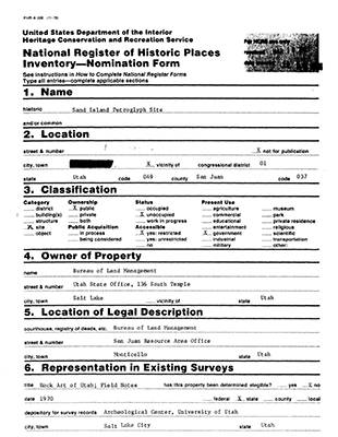 Utah National Register Nomination Forms