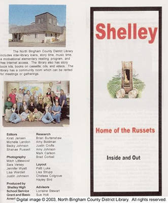 History of Shelley Idaho