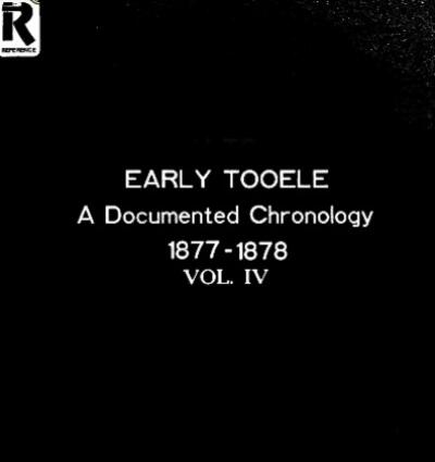 Tooele County Histories