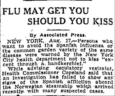 1918 Flu Pandemic Newspapers
