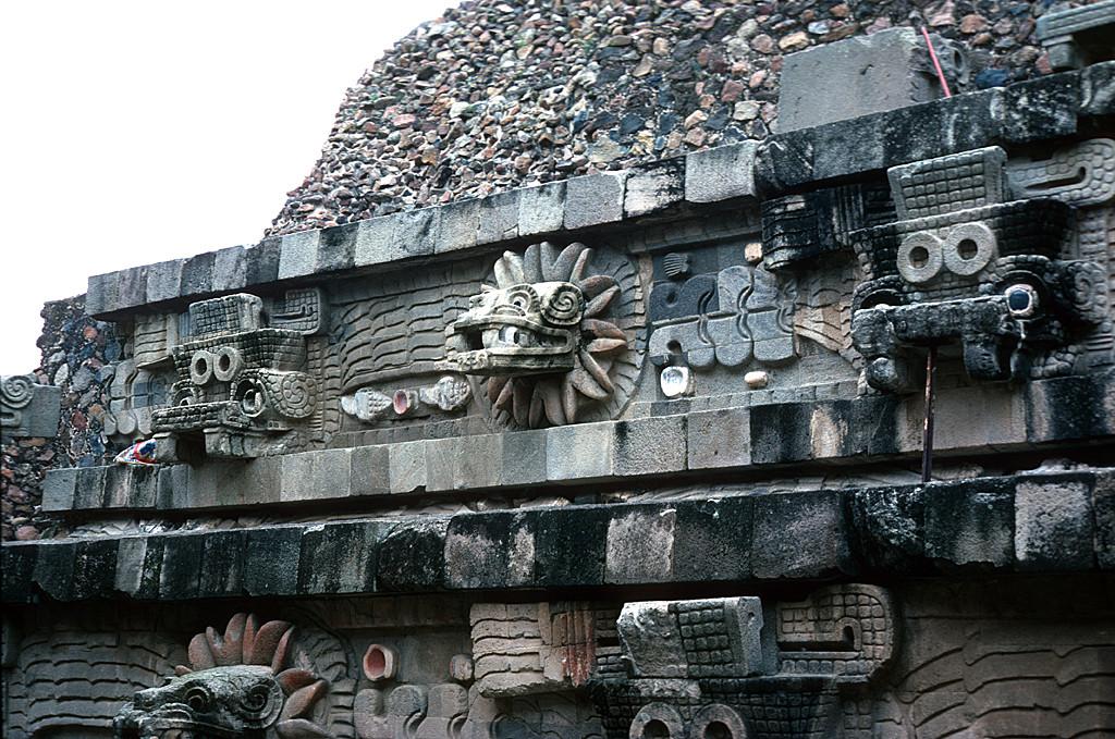 Temple of Quetzalcoatl (Pyramid of Quetzalcoatl, Temple of the  Feathered-Serpent); Ciudadela (Citadel)   University of Utah Partnerships    J. Willard Marriott Digital Library