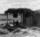 A Navajo Indian Hogan Ganado, Arizona Ganado Mission Gift Shop