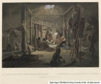 The Interior of a Hut of a Mandan Chief