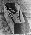 Man in casket
