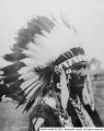 Indian in headdress