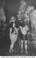 Clarence and Bea Rhodes in Gothic Palace, Lehman Cave