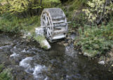Log Haven water wheel