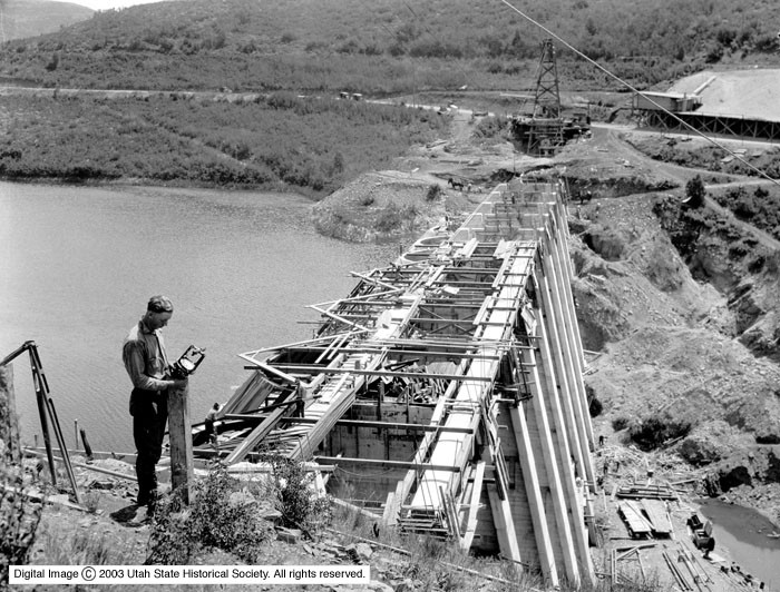 Mountain Dell Dam Construction