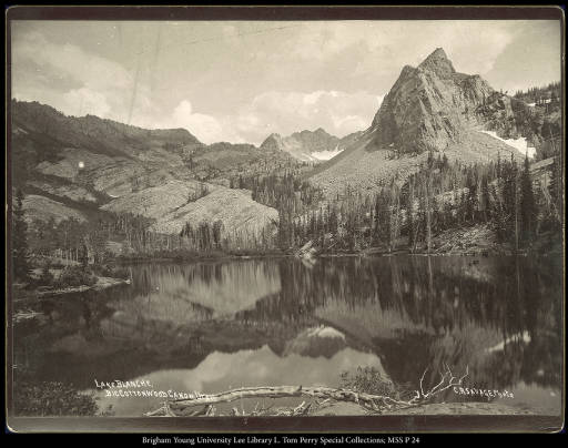 Lake Blanche, Big Cottonwood Canon, Utah. C.R. Savage, Photo