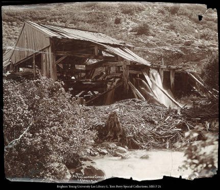 Mill B. Big Cottonwood Canon, UT. C.R. Savage, Photo.