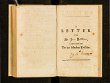 A letter to Sir J--- B---, by birth a Swede, but naturaliz'd and a m----r of the present P---t:...