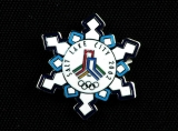 PIN, OLYMPIC SNOWFLAKE