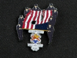 PIN, OPENING CEREMONIES, WORLD TRADE CENTER FLAG