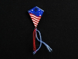 PIN, AMERICAN FLAG KITE