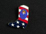 PIN, AMERICAN FLAG COWBOY BOOT