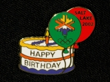 PIN, HAPPY BIRTHDAY CAKE AND BALLOONS