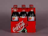 COCA-COLA, CARTON OF SIX GLASS BOTTLES