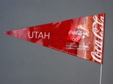 PENNANT, TORCH RELAY, COCA-COLA AND UTAH FLAG