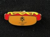 PIN, HOT DOG WITH MUSTARD