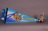 PENNANT AND PLUSH DOLL, COPPER MASCOT