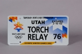 LICENSE PLATE, TEMPORARY TORCH RELAY PLATE