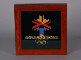 PIN, OFFICIAL OLYMPIC LOGO IN CASE