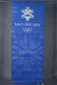 BANNER, BLUE WITH WHITE OLYMPIC LOGO