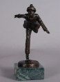 BRONZE SCULPTURE, SKATER BY DENNIS SMITH