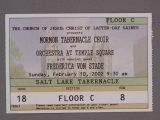 TICKET, FREDERICA VON STADE, TABERNACLE CHOIR AND ORCHESTRA AT TEMPLE SQUARE