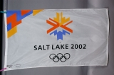 FLAG, WHITE OLYMPIC LOGO