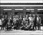King, Group at Oregon Short Line Depot, Private Car