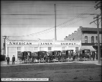 American Linen Supply Company Wagons