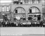 Telegram Newsboys in Front of Office