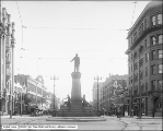 Brigham Young Monument and Main Street