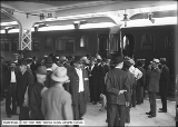 Western Pacific Railroad Opening, Crowd Gathering by Train