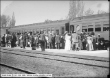 First Train Out of New Denver and Rio Grande Depot