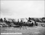 Tourists Crossing Firehole River