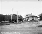 Denver and Rio Grande Western Railroad Station at Price, Engine