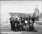 Tourist Group at Grotto - Upper Geyser Basin