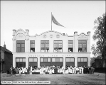 American Linen Supply Company Group in Front of Building