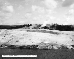 Tourists at Castle Geyser - Upper Geyser Basin