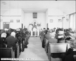 Interior of Church and People at Tooele (McGurrin)