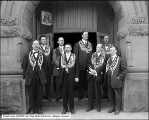 Group of Men at I. O. O. F. (Independent Order of Odd Fellows) Hall