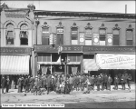 A. H. Crabbe, Crowd in Front of Store