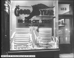 Goodyear Tire and Rubber Company Window at Night