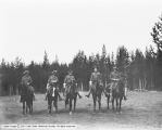 Fall River Meadows, Yellowstone Park, Soldiers on Horses