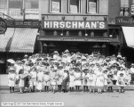 Group in Front of Hirschman's Shoe Store