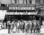 Hirschman's Shoe Store and Crowd