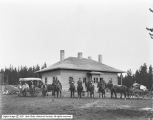 Fall River Meadows, Yellowstone Park, Soldiers at Fort