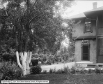 Rear View of Yard and Residence, J. E. Galigher